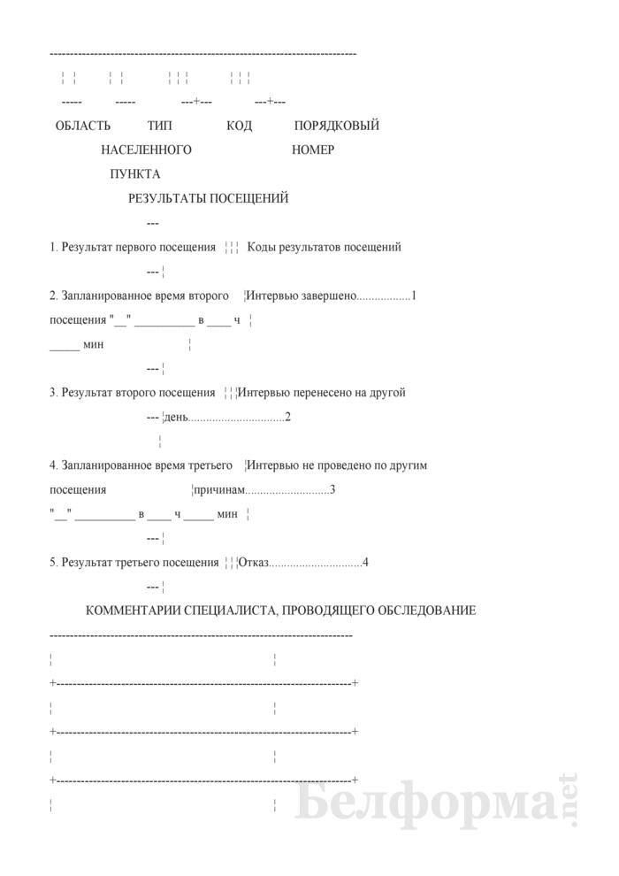 Ежеквартальный вопросник по расходам и доходам домашних хозяйств (Форма 4-дх (вопросник) (квартальная)). Страница 2