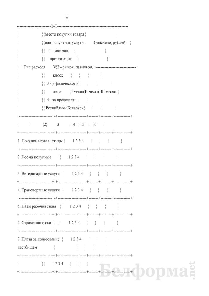 Ежеквартальный вопросник по расходам и доходам домашних хозяйств (Форма 4-дх (вопросник) (квартальная)). Страница 19