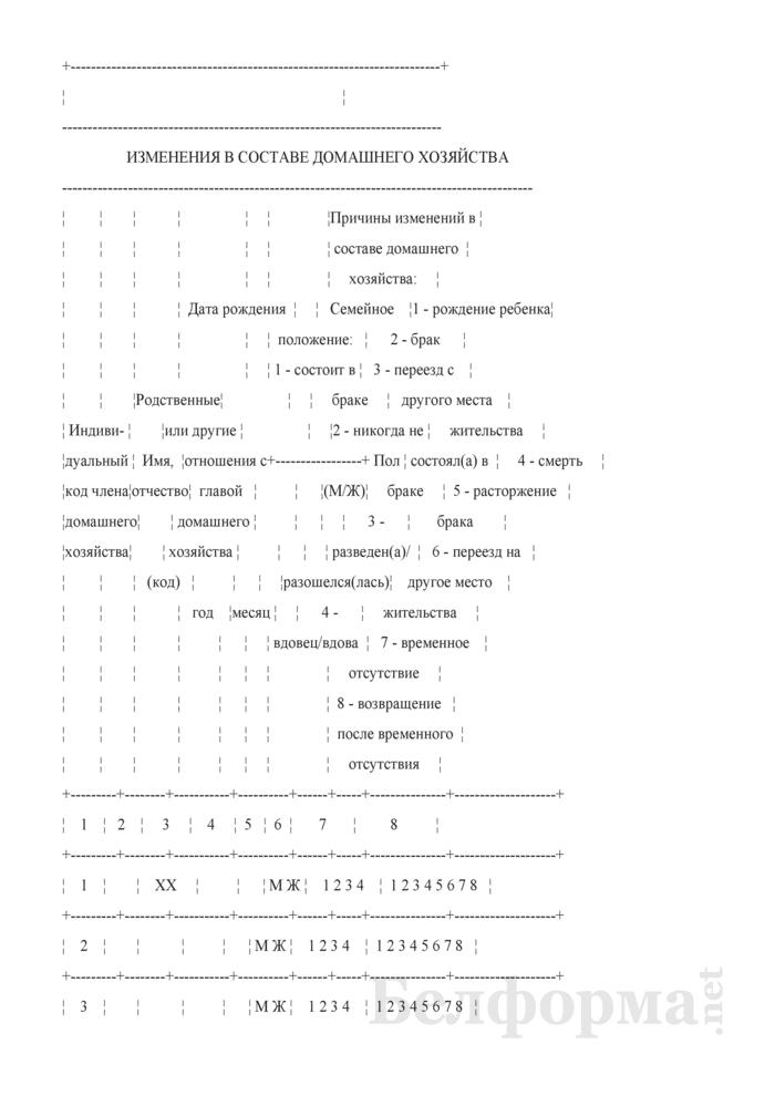 Ежеквартальный вопросник по расходам и доходам домашних хозяйств (Форма 4-дх (вопросник) (квартальная)). Страница 3