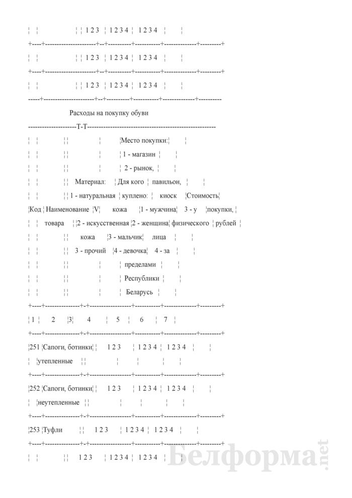 Ежеквартальный вопросник по расходам и доходам домашних хозяйств (Форма 4-дх (вопросник) (квартальная)). Страница 7