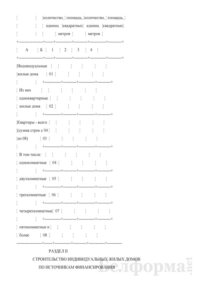 Годовой отчет о построенных населением индивидуальных жилых домах (Форма 1-ис (ижс) (годовая)). Страница 3