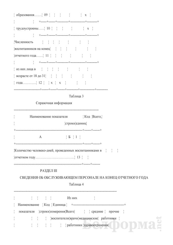 Отчет дома-интерната для детей-инвалидов с особенностями психофизического развития (Форма 1-детский дом-интернат (Минтруда и соцзащиты) (годовая)). Страница 5