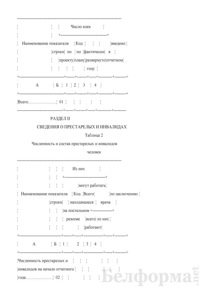 Отчет дома-интерната для престарелых и инвалидов (Форма 1-дом-интернат (Минтруда и соцзащиты) (годовая)). Страница 3