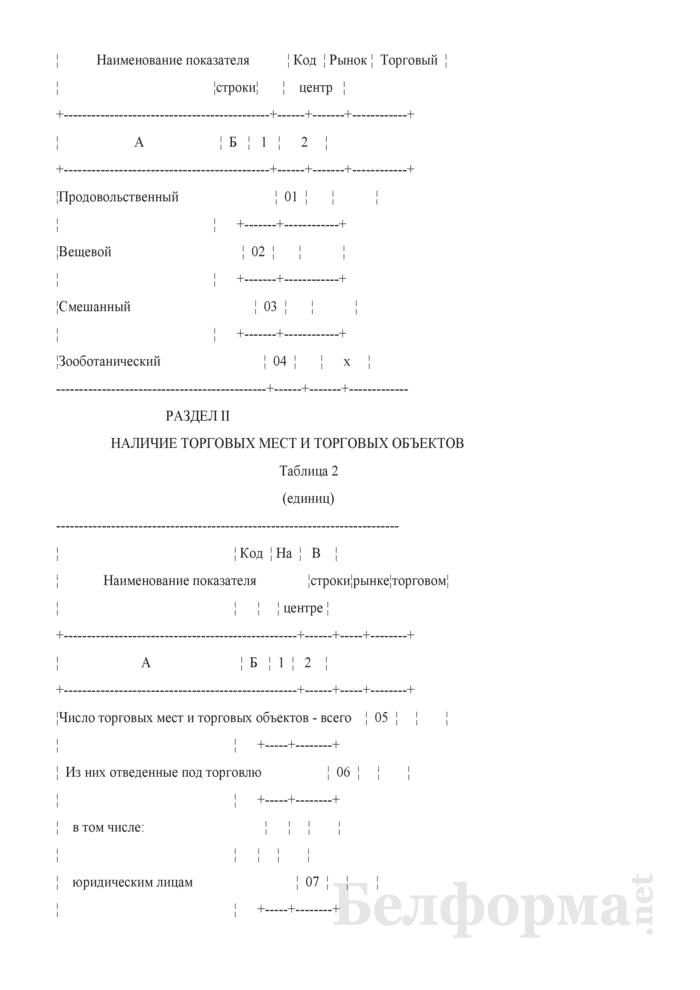 Отчет о числе торговых мест на рынках, в торговых центрах (Форма 4-торг (рынки) (квартальная)). Страница 3