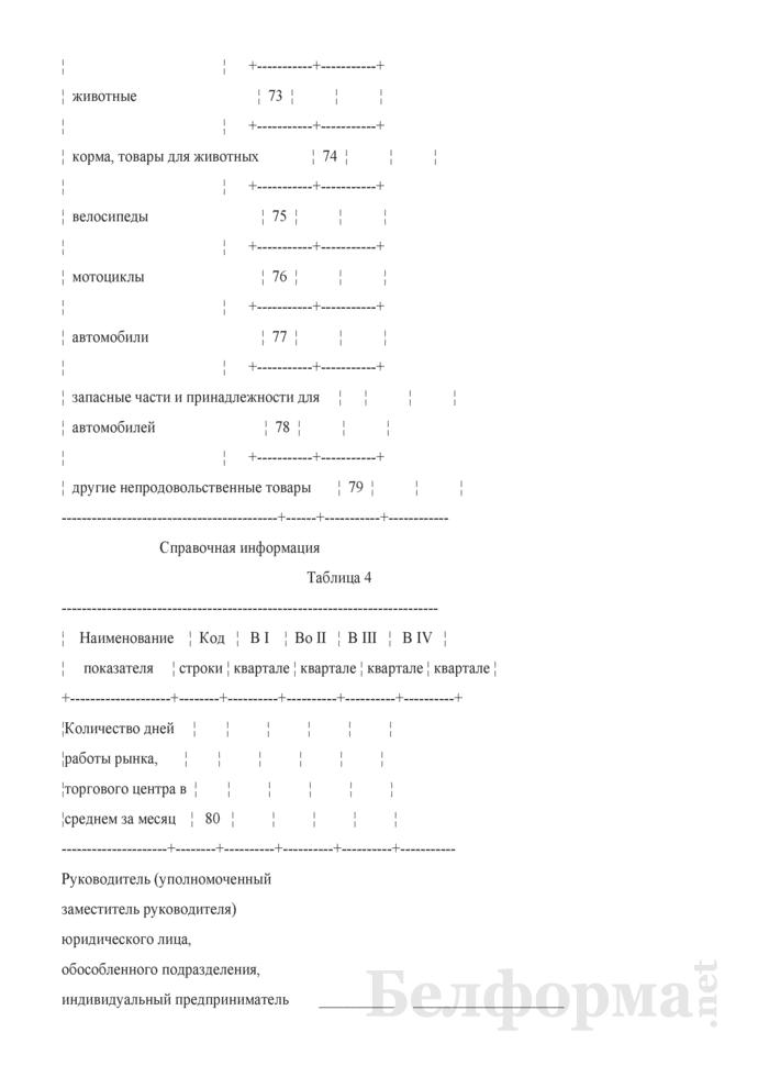 Отчет о числе торговых мест на рынках, в торговых центрах (Форма 4-торг (рынки) (квартальная)). Страница 9