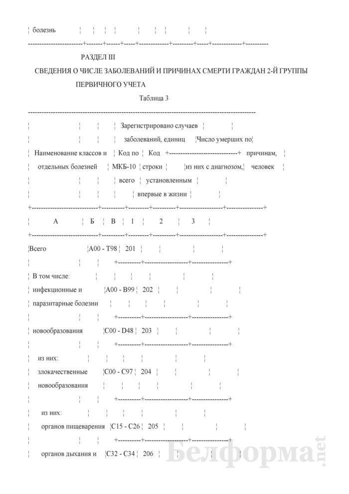 Отчет о числе заболеваний и причинах смерти граждан, пострадавших от катастрофы на Чернобыльской АЭС, других радиационных аварий. Форма 1-заболеваемость ЧАЭС (Минздрав) (годовая). Страница 19