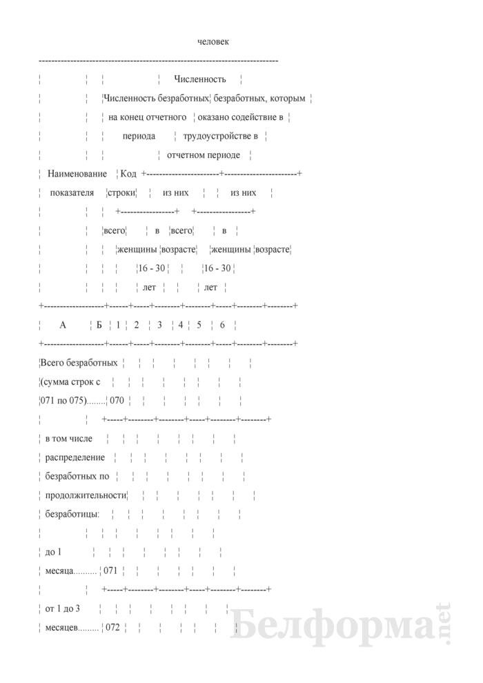 Отчет о численности и качественном составе безработных (Форма 4-трудоустройство (Минтруда и соцзащиты) (квартальная)). Страница 11