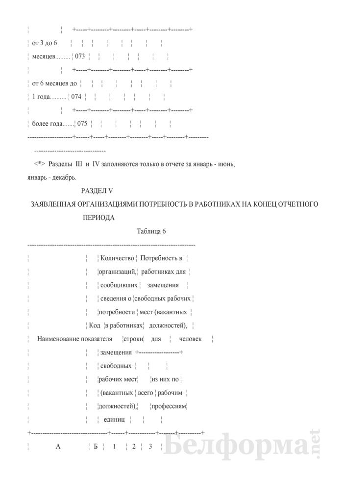Отчет о численности и качественном составе безработных (Форма 4-трудоустройство (Минтруда и соцзащиты) (квартальная)). Страница 12