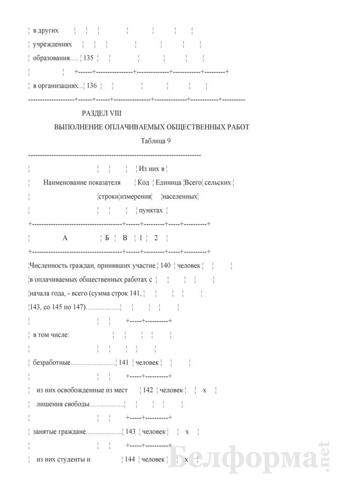 Отчет о численности и качественном составе безработных (Форма 4-трудоустройство (Минтруда и соцзащиты) (квартальная)). Страница 19