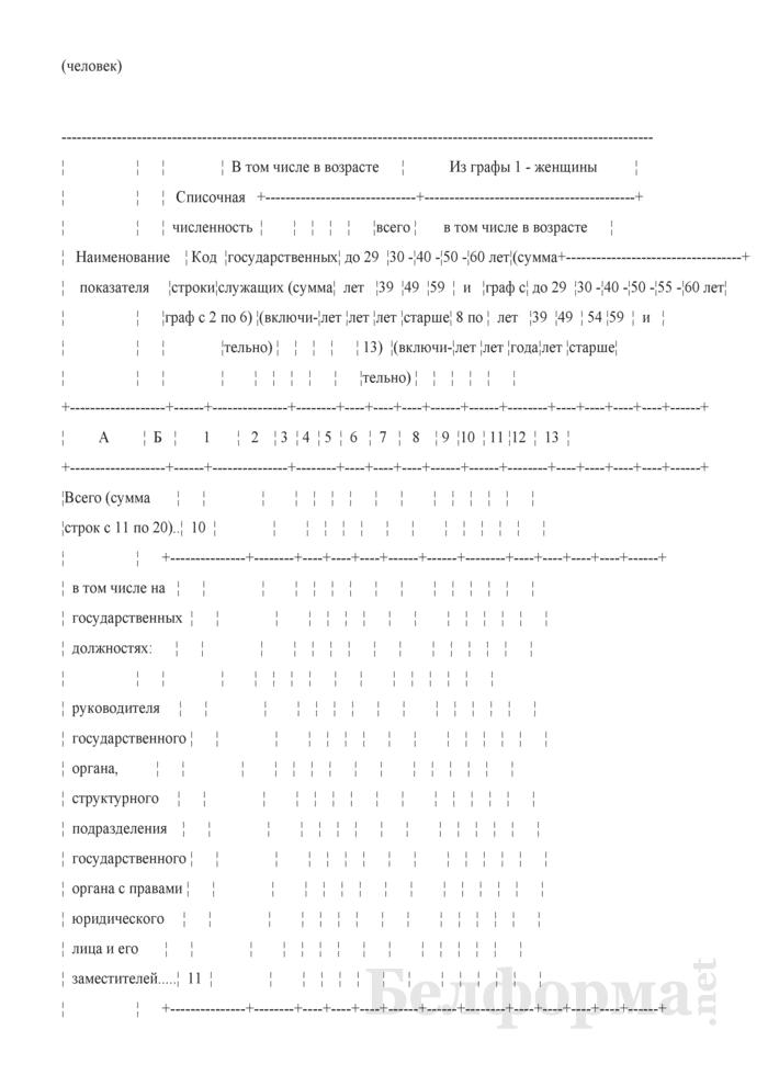 Отчет о численности и распределении государственных служащих по полу, возрасту, образованию и стажу государственной службы (Форма 6-т (гс) (1 раз в два года)). Страница 4