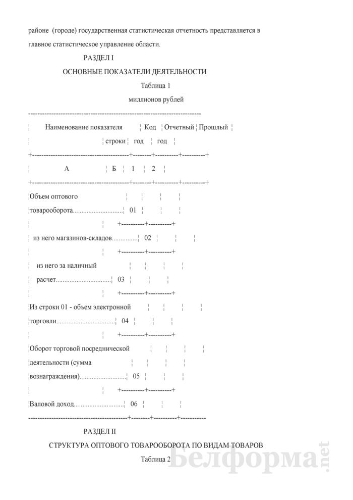 Отчет о деятельности организации оптовой торговли (Форма 1-торг (опт) (годовая)). Страница 3