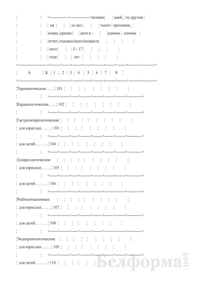 Отчет о деятельности организации здравоохранения, оказывающей медицинскую помощь в стационарных условиях (Форма 1-стационар (Минздрав) (годовая)). Страница 24