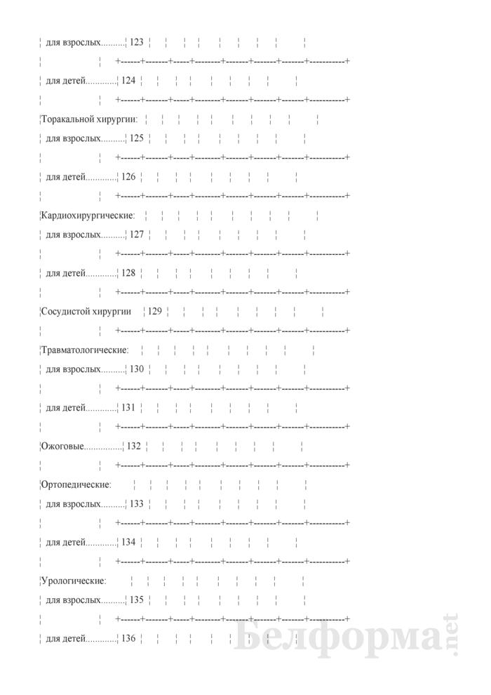 Отчет о деятельности организации здравоохранения, оказывающей медицинскую помощь в стационарных условиях (Форма 1-стационар (Минздрав) (годовая)). Страница 26