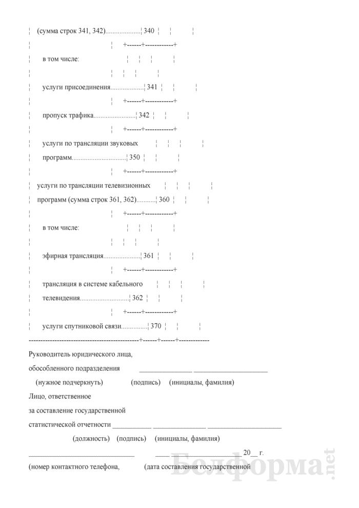 Отчет о доходах от услуг связи (Форма 4-связь (доходы) (квартальная)). Страница 11