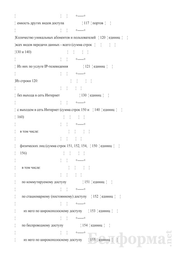 Отчет о емкости сети передачи данных, количестве абонентов (Форма 1-пд (Минсвязи) (годовая)). Страница 4