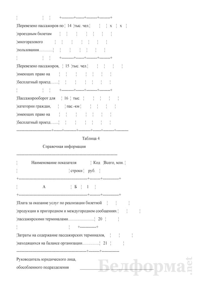 Отчет о финансовых показателях работы автомобильного транспорта (Форма 4-тр (авто) (квартальная)). Страница 6