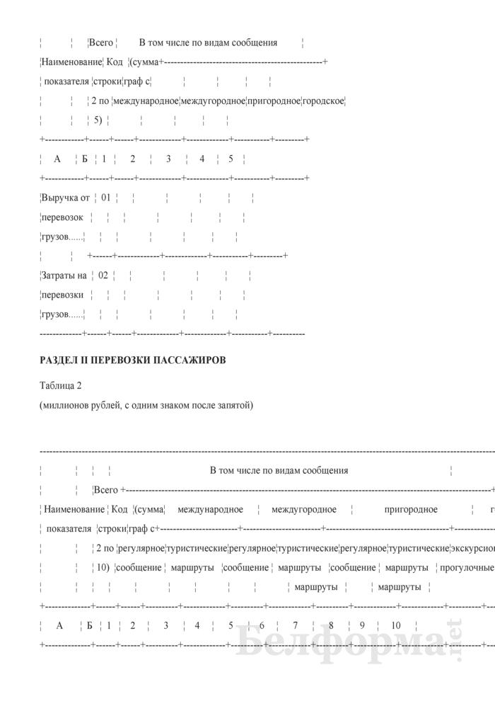 Отчет о финансовых показателях работы внутреннего водного транспорта общего пользования (Форма 1-тр (вт) (годовая), код формы по ОКУД 0610010). Страница 3