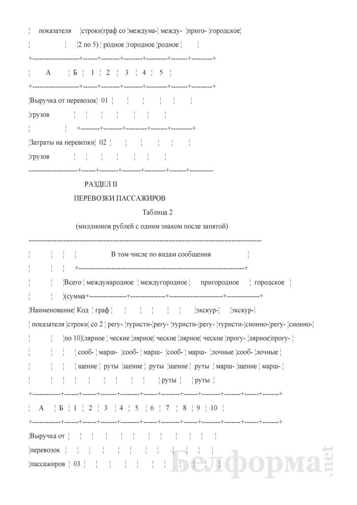Отчет о финансовых показателях работы внутреннего водного транспорта общего пользования (Форма 4-тр (вт) (квартальная)). Страница 3