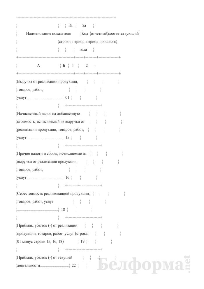 Отчет о финансовых результатах (Форма 12-ф (прибыль) (месячная, срочная)). Страница 3