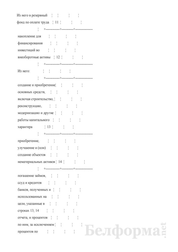 Отчет о формировании и использовании прибыли (1-прибыль) (квартальная). Страница 4
