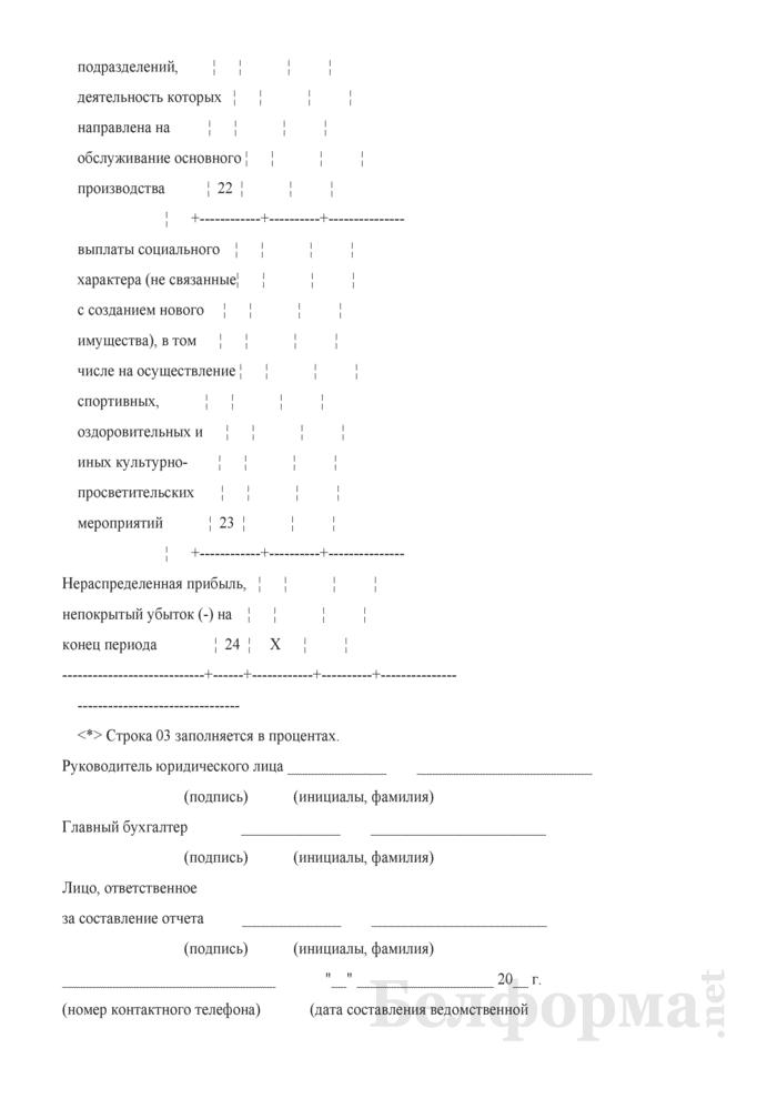 Отчет о формировании и использовании прибыли (1-прибыль) (квартальная). Страница 6