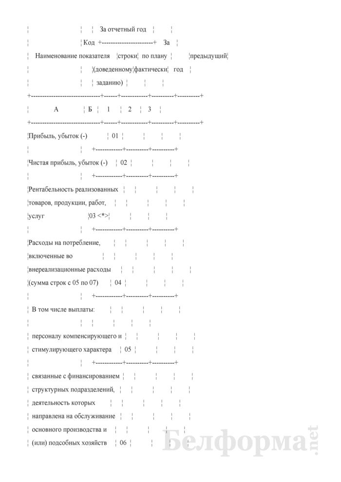 Отчет о формировании и использовании прибыли (Форма 1-прибыль (Минфин) (годовая)). Страница 3