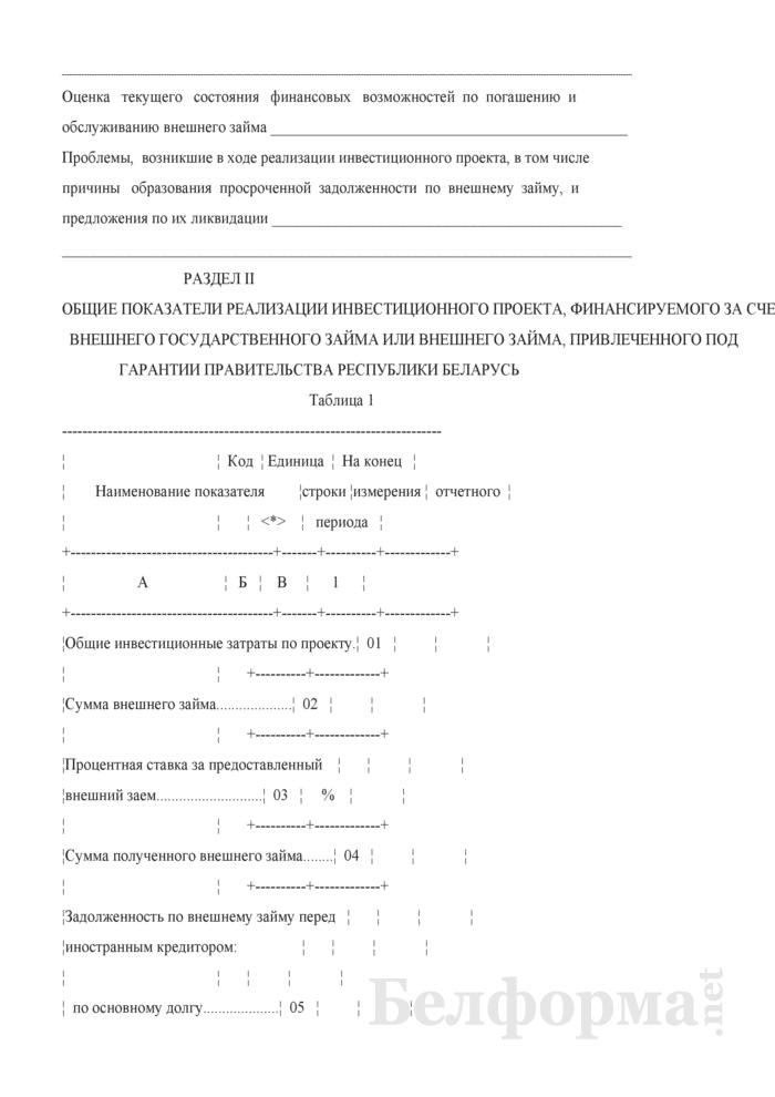 Отчет о ходе реализации инвестиционного проекта, финансируемого за счет средств внешнего займа (Форма 4-заем (Минфин) (квартальная)). Страница 3