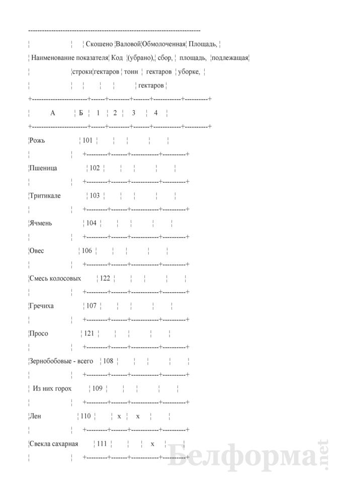 Отчет о ходе сельскохозяйственных работ (Форма 6-сх (сельхозработы) (7 раз в год) (срочная)). Страница 3