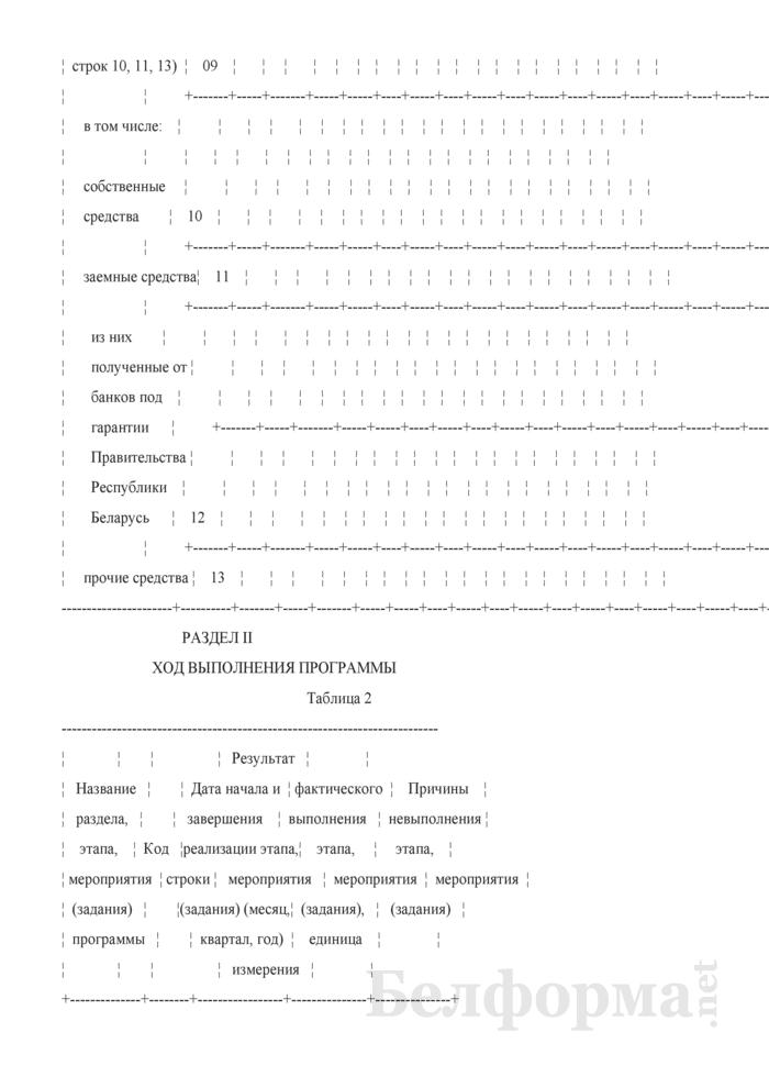 Отчет о ходе выполнения программ, подпрограмм, проектов и мероприятий Союзного государства (Форма 1-Союз (квартальная)). Страница 5