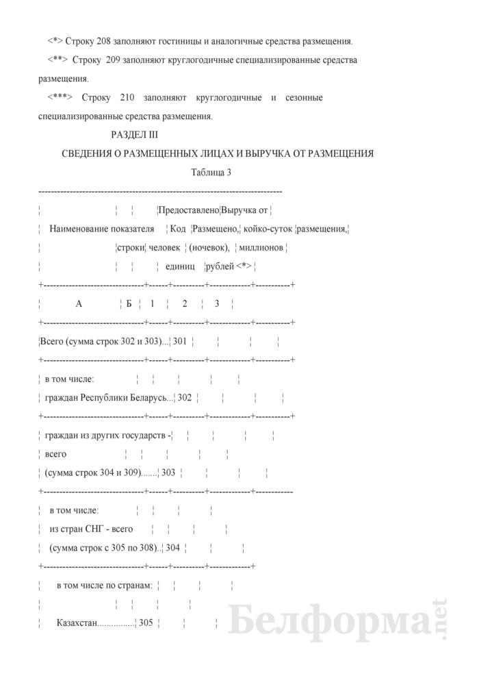 Отчет о коллективных средствах размещения (Форма 1-тур (размещение) (годовая)). Страница 5