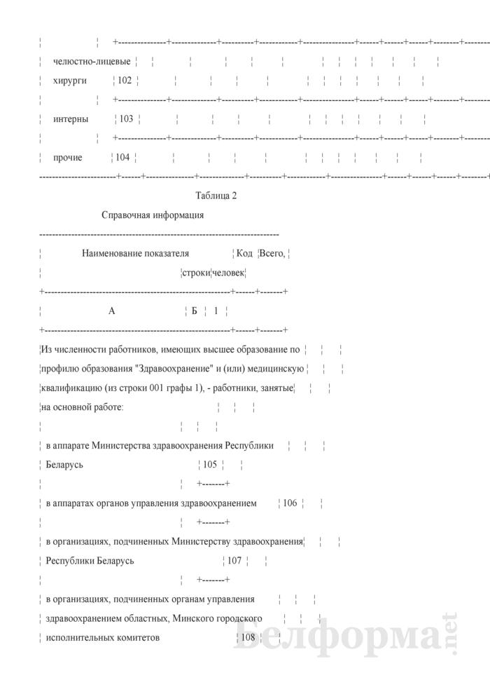 Отчет о медицинских (фармацевтических) работниках (Форма 1-медкадры (Минздрав) (годовая)). Страница 14