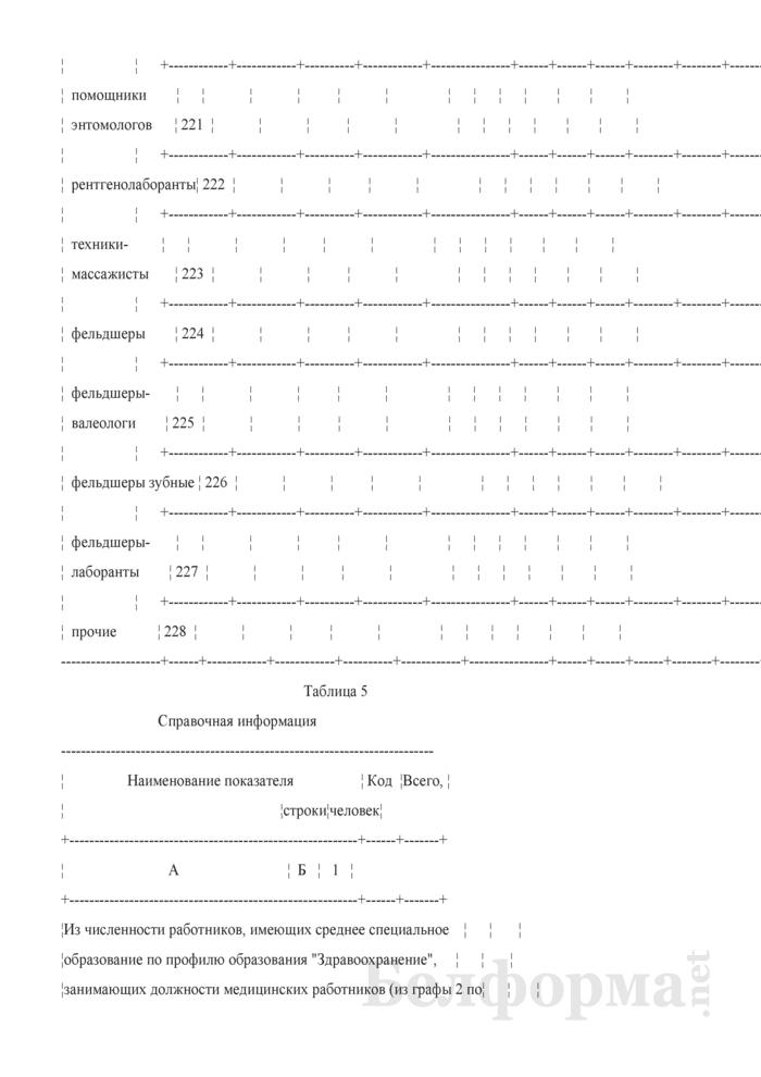 Отчет о медицинских (фармацевтических) работниках (Форма 1-медкадры (Минздрав) (годовая)). Страница 22