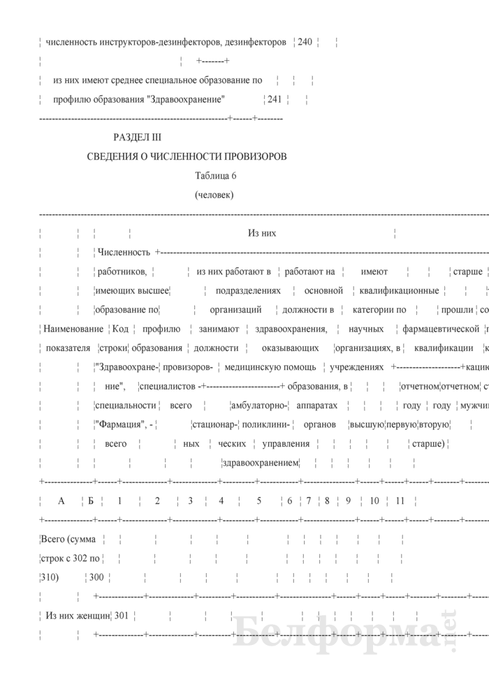 Отчет о медицинских (фармацевтических) работниках (Форма 1-медкадры (Минздрав) (годовая)). Страница 24