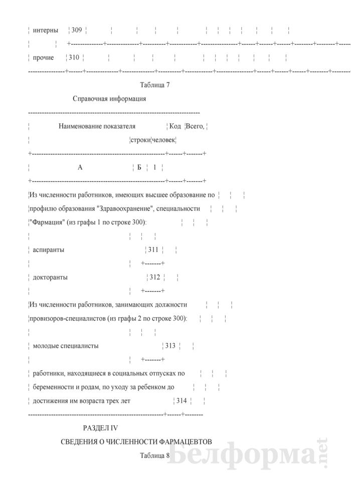 Отчет о медицинских (фармацевтических) работниках (Форма 1-медкадры (Минздрав) (годовая)). Страница 26