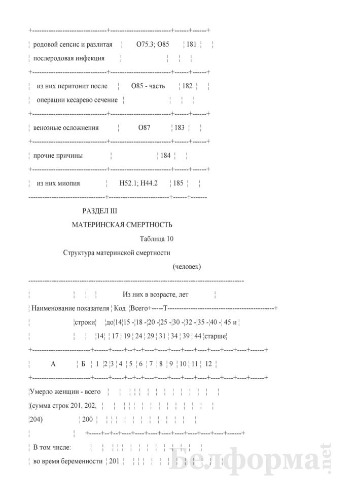 Отчет о медицинской помощи беременным, роженицам и родильницам (Форма 1-помощь беременным (Минздрав) (годовая)). Страница 18