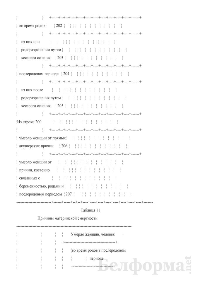 Отчет о медицинской помощи беременным, роженицам и родильницам (Форма 1-помощь беременным (Минздрав) (годовая)). Страница 19