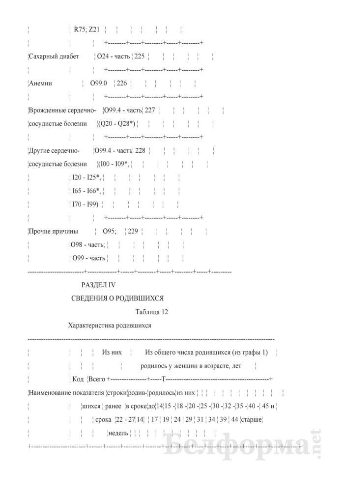 Отчет о медицинской помощи беременным, роженицам и родильницам (Форма 1-помощь беременным (Минздрав) (годовая)). Страница 22