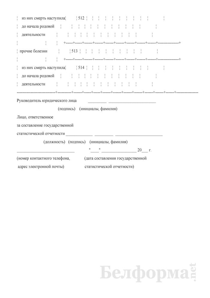 Отчет о медицинской помощи беременным, роженицам и родильницам (Форма 1-помощь беременным (Минздрав) (годовая)). Страница 50