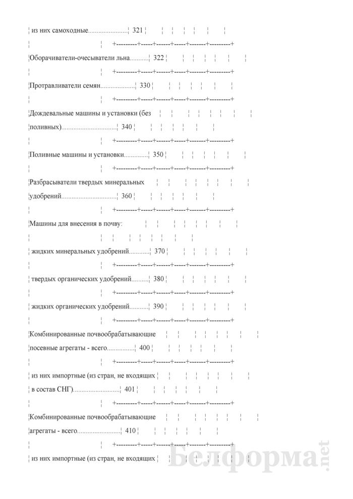 Отчет о наличии сельскохозяйственной техники, машин, оборудования и энергетических мощностей (Форма 1-сх (техника) (годовая)). Страница 11