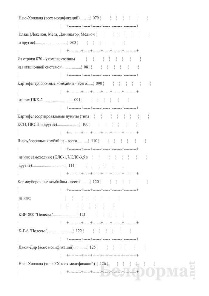 Отчет о наличии сельскохозяйственной техники, машин, оборудования и энергетических мощностей (Форма 1-сх (техника) (годовая)). Страница 6