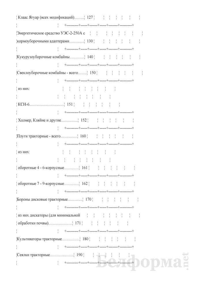 Отчет о наличии сельскохозяйственной техники, машин, оборудования и энергетических мощностей (Форма 1-сх (техника) (годовая)). Страница 7