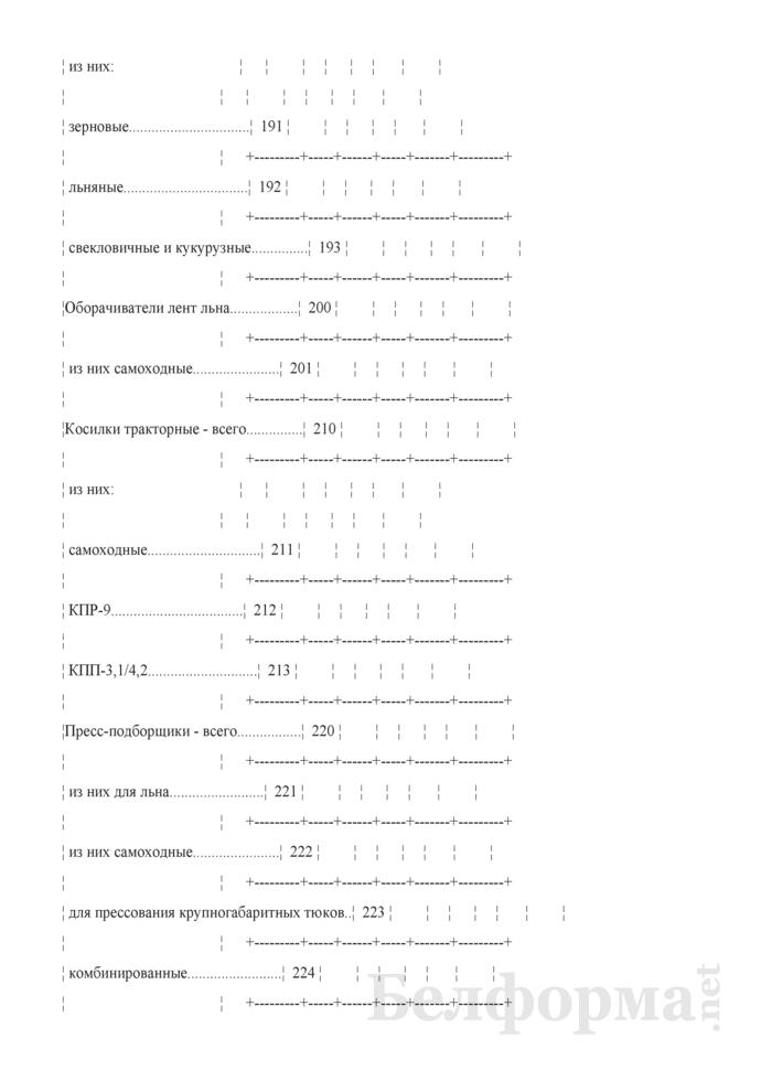 Отчет о наличии сельскохозяйственной техники, машин, оборудования и энергетических мощностей (Форма 1-сх (техника) (годовая)). Страница 8