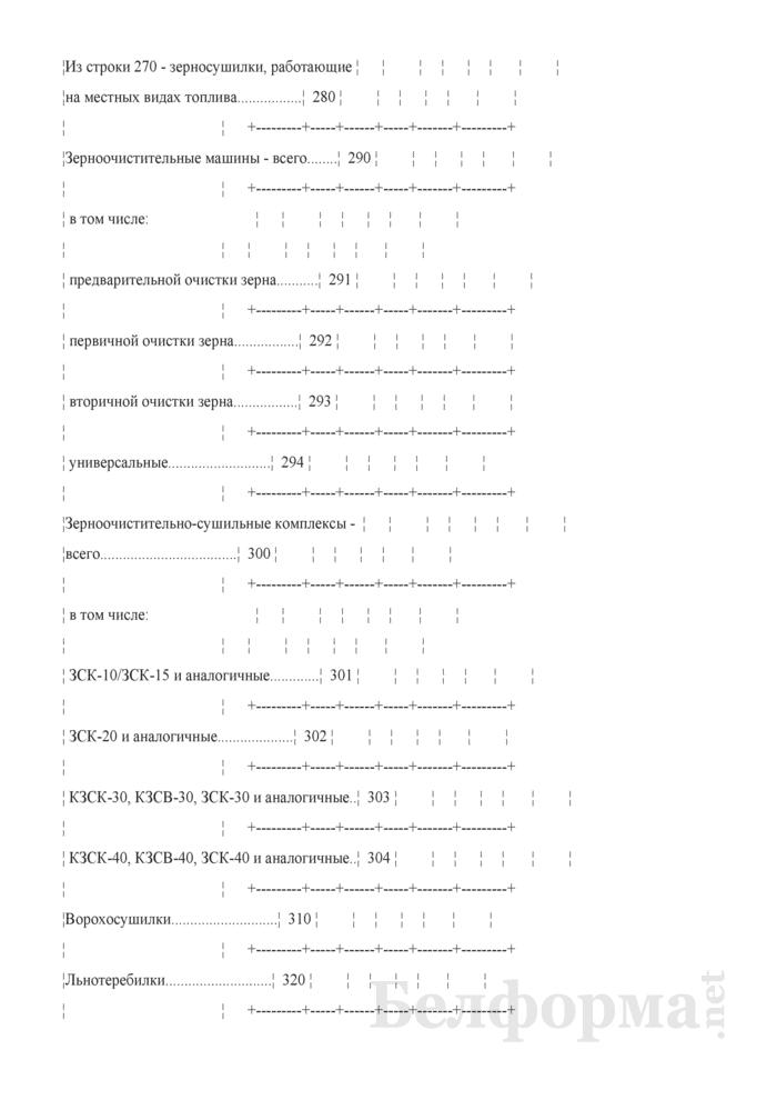 Отчет о наличии сельскохозяйственной техники, машин, оборудования и энергетических мощностей (Форма 1-сх (техника) (годовая)). Страница 10