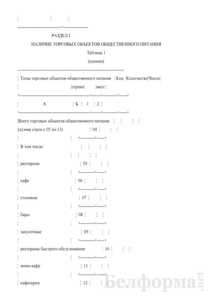 Отчет о наличии торговых объектов общественного питания и объектов розничной (торговой) сети (Форма 1-торг (микро) (годовая)). Страница 3