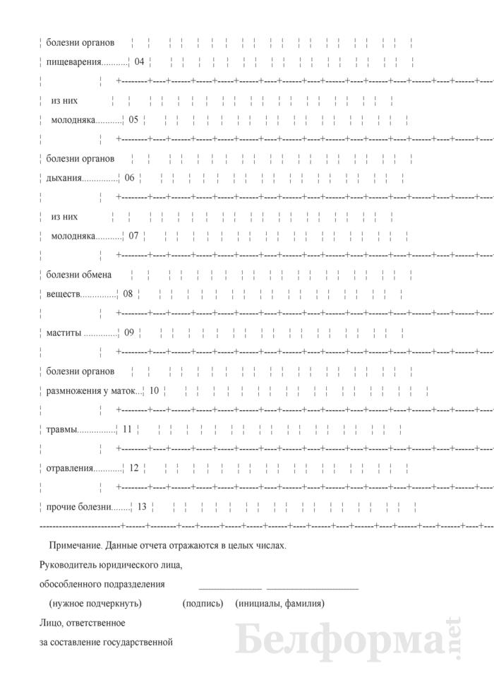Отчет о незаразных болезнях животных (Форма 2-ветболезни (Минсельхозпрод) (полугодовая)). Страница 4