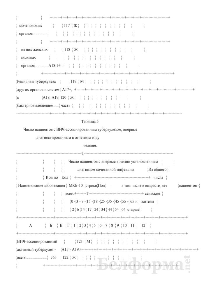 Отчет о пациентах с туберкулезом (Форма 1-туберкулез (Минздрав) (годовая)). Страница 15