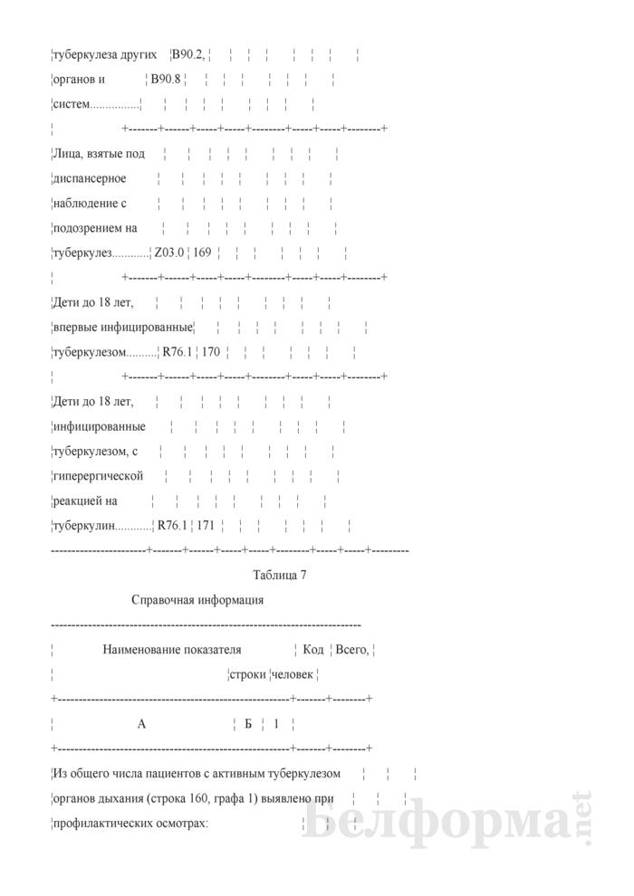 Отчет о пациентах с туберкулезом (Форма 1-туберкулез (Минздрав) (годовая)). Страница 21
