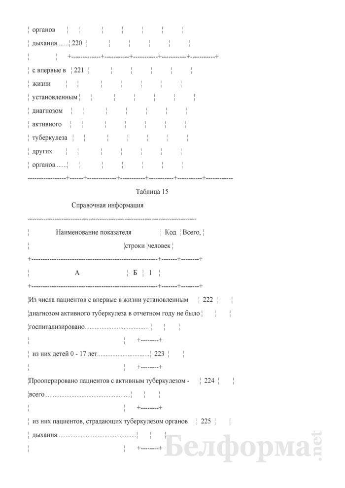 Отчет о пациентах с туберкулезом (Форма 1-туберкулез (Минздрав) (годовая)). Страница 31