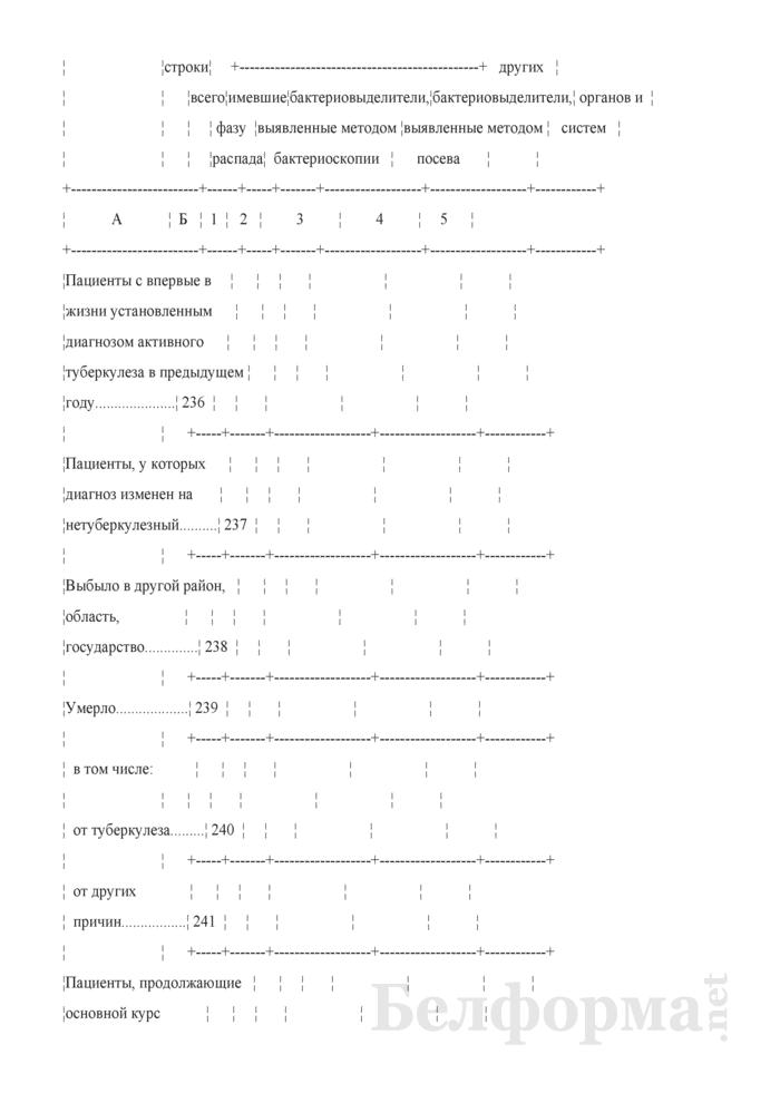 Отчет о пациентах с туберкулезом (Форма 1-туберкулез (Минздрав) (годовая)). Страница 33