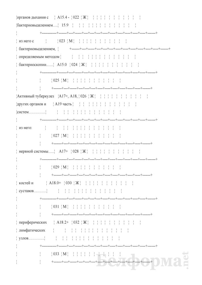 Отчет о пациентах с туберкулезом (Форма 1-туберкулез (Минздрав) (годовая)). Страница 6